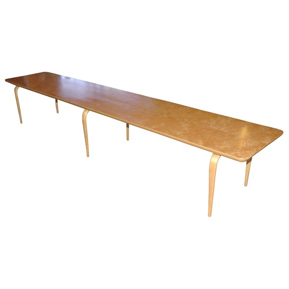 bruno mathsson extra long birch coffee table at 1stdibs
