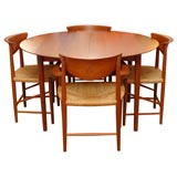 Peter Hvidt dining table and with six chairs