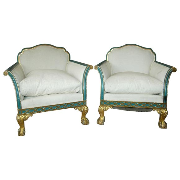French Neoclassic Armchairs 1