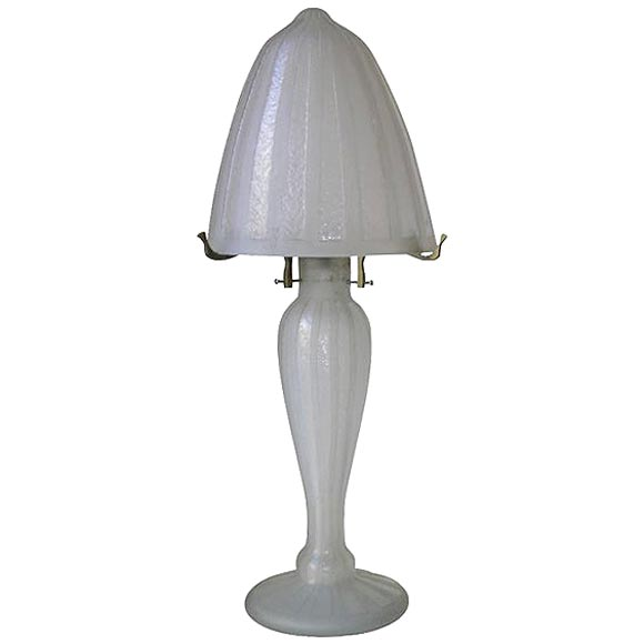 Daum Nancy Art Deco Table Lamp At 1stdibs