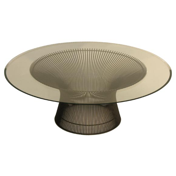 mod round cocktail table by warren platner for knoll for