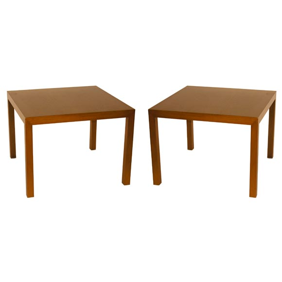 Pair of Parsons Lamp Tables by Edward Wormley for Dunbar