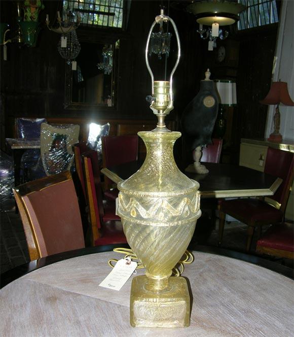Pair of Barovier Murano Venetian glass Lamps 2
