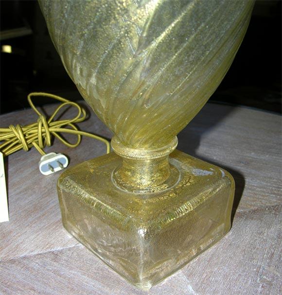Pair of Barovier Murano Venetian glass Lamps 3