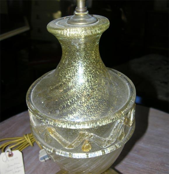 Pair of Barovier Murano Venetian glass Lamps 4