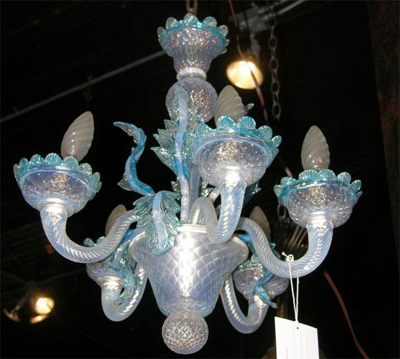 Small Murano Crystal Chandelier: Small Murano Venetian Glass Chandelier At 1stdibs