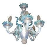 Small Murano Venetian Glass Chandelier