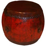 Red Painted Drum