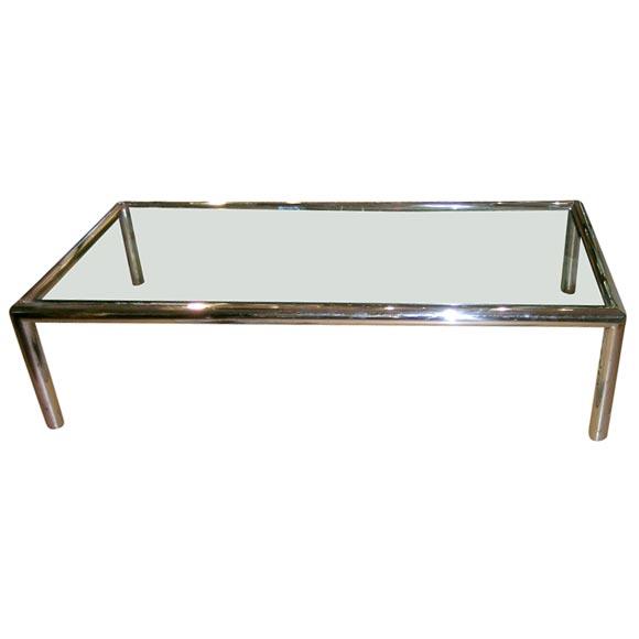 Chrome X Frame Coffee Table: Chrome Frame Glass Top Coffee Table At 1stdibs