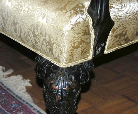 Irish Georgian Mahogany Sofa w/ Carved Faces on Knees & Paw Feet 2
