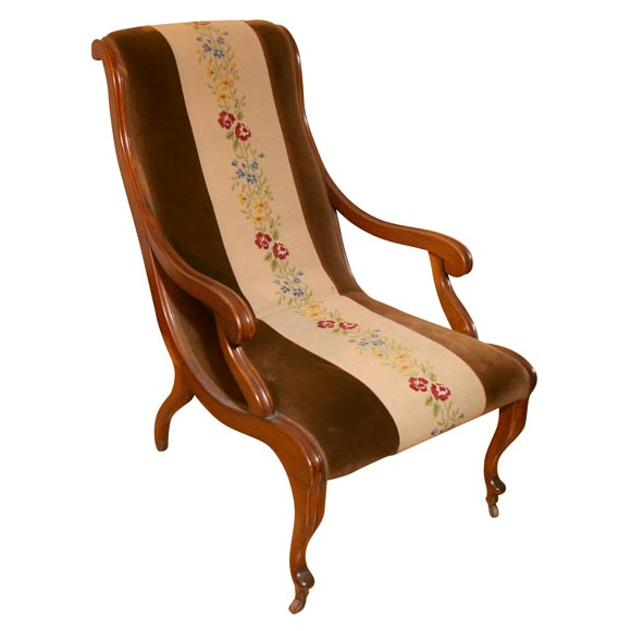 Charmant Victorian Slipper Chair For Sale