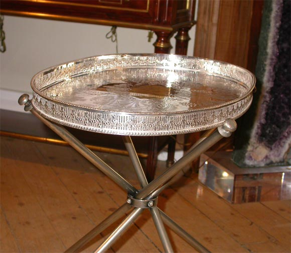 Black Coffee Table Sheffield: Pair Of Sheffield Silver Plate Butler Tray Tables At 1stdibs