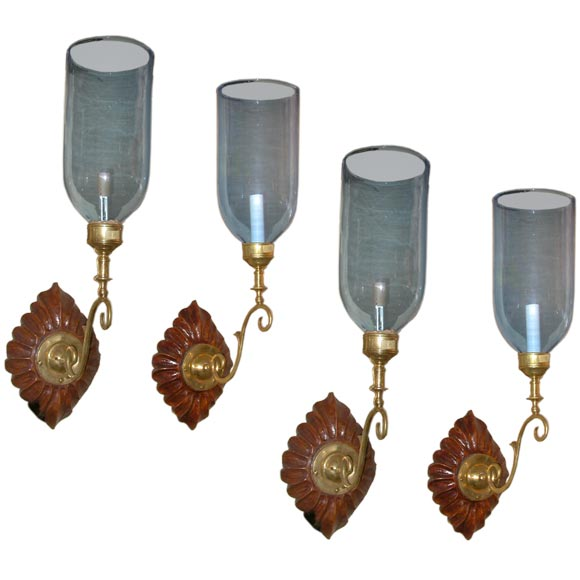 Wall Sconce Glass Globes : sconces with glass globes at 1stdibs
