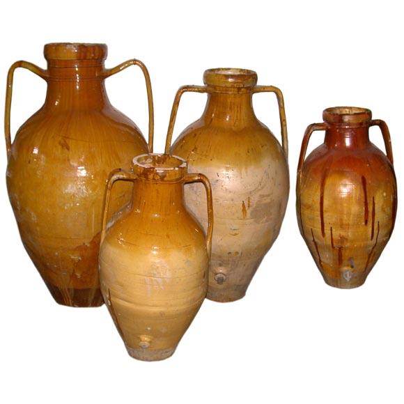 Southern Italian Terra Cotta Olive Oil Jars