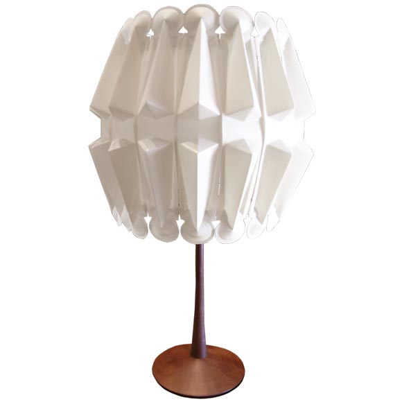 Rare And Unusual George Nelson Talbe Lamp At 1stdibs