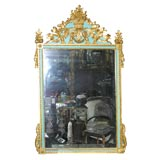 Early 19 th Century Italian Carved Wood Frame Mirror