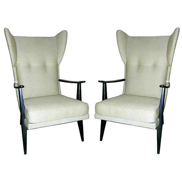 Pair of living room chairs by knoll at 1stdibs for Pair of chairs for living room