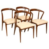 Set of Six  Bertha Schaefer Dining Chairs for Singer & Sons