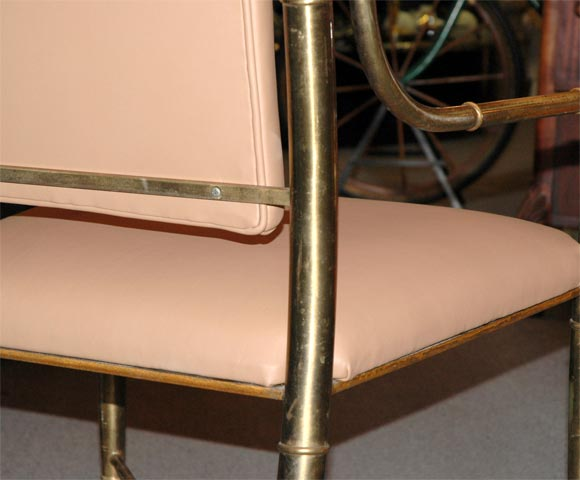 Set Of Six Mid Century Chairs In Bronze Quot Bamboo Quot At 1stdibs