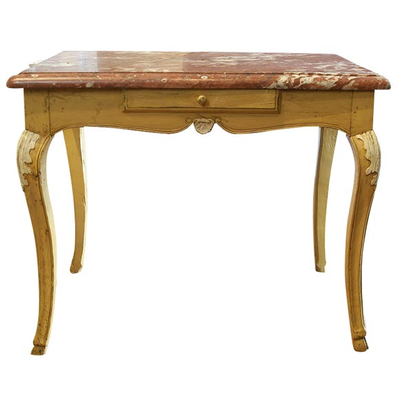 Painted French Provincial Marble Top Table at 1stdibs : xIMG6323 from www.1stdibs.com size 580 x 580 jpeg 27kB