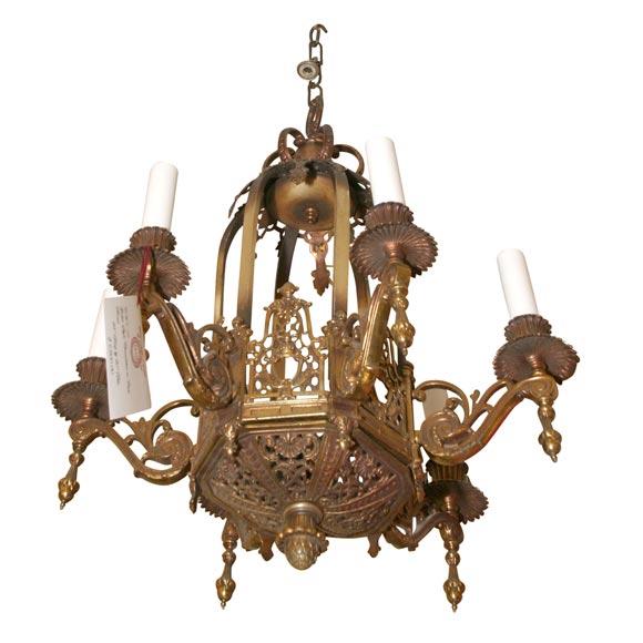 bronze gothic style chandelier at 1stdibs