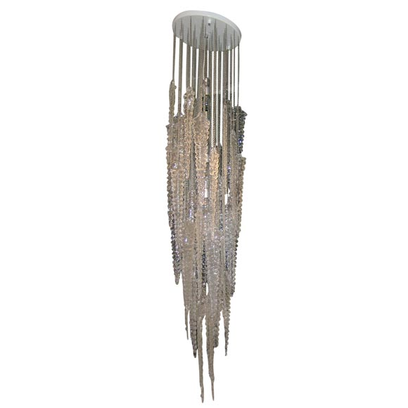 Spectacular venini icicle chandelier at 1stdibs spectacular venini icicle chandelier for sale aloadofball Image collections