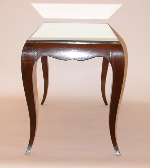 Wooden Coffee Table With Mirror Top At 1stdibs