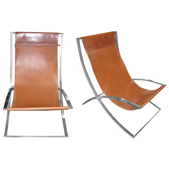 two chaises longues by marcello cuero at 1stdibs