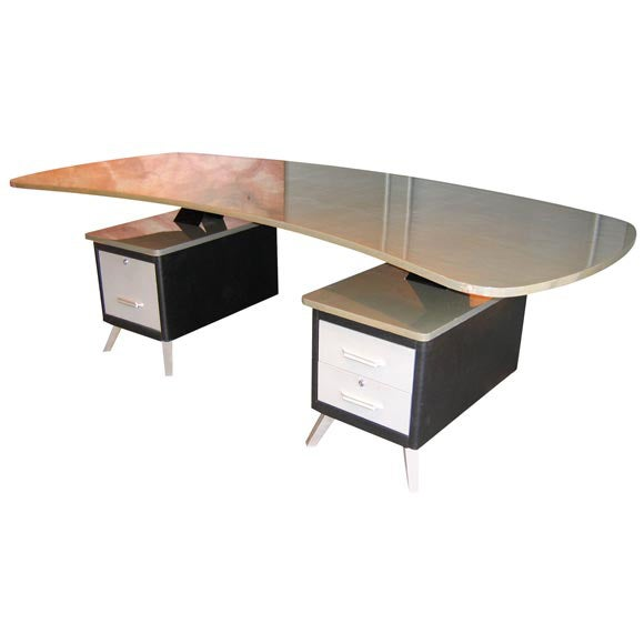 Kidney shaped executive desk kidney shaped leather top executive desk lot 1056 kidney shaped - Kidney shaped office desk ...