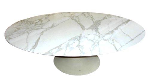 Knoll Saarinen Marble Top Oval Coffee Table At 1stdibs