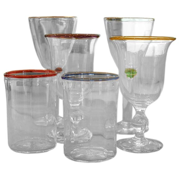 Handmade Water Glasses Wine Goblets And Tumblers At 1stdibs