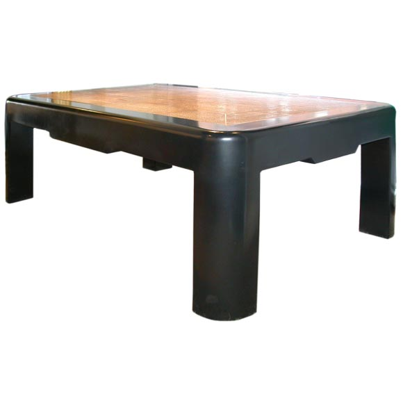 Coffee Table With Shagreen And Bone By Karl Springer At 1stdibs