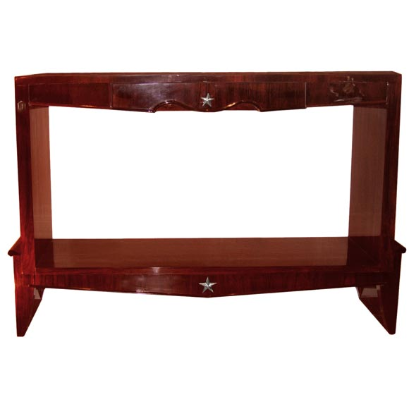 Lacquered brazilian rosewood console table at stdibs