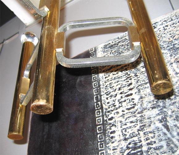 Italian Brass Chandelier with Nine Arms 5