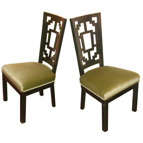 asian dining room chairs | Set of six oriental Style dining Chairs at 1stdibs