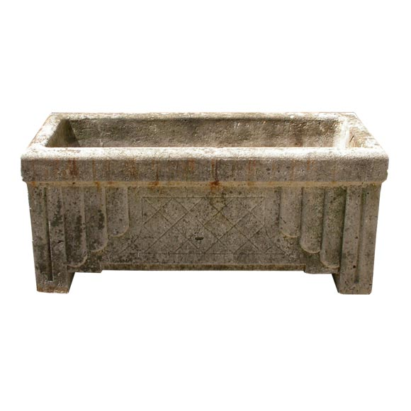 Art Deco Style Cement Planter