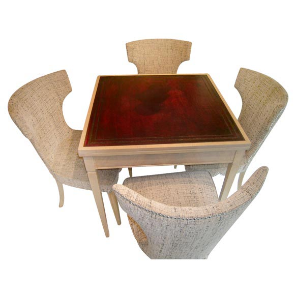Card Table And Four Chairs At 1stdibs