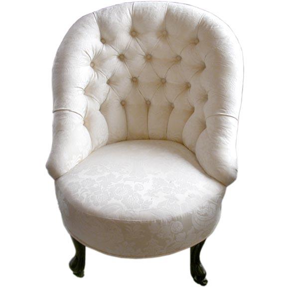 Victorian Slipper Chair At 1stdibs
