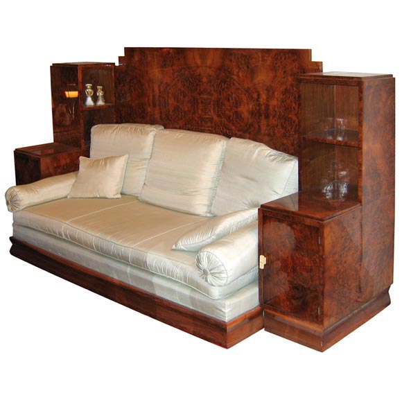 Convertible Sofa Bed With Built In Night Stands And