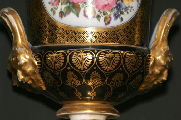 English Pair of Royal Worcester Urns For Sale