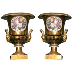 Pair of Royal Worcester Urns