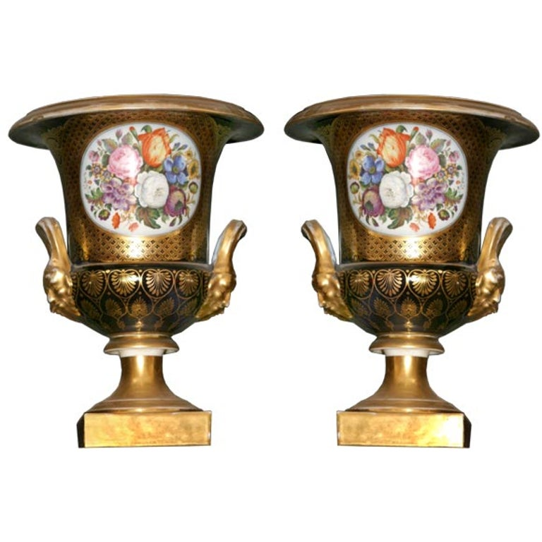 Pair of Royal Worcester Urns For Sale