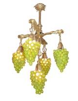 Unusual grape motif chandelier