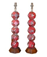 """Pair of """"industrial"""" style table lamps"""