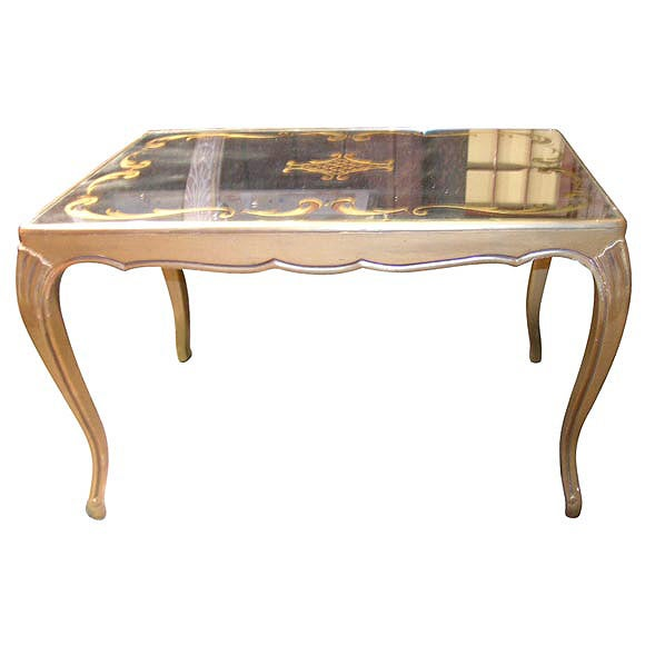 Small French Mirror Top Coffee Table At 1stdibs