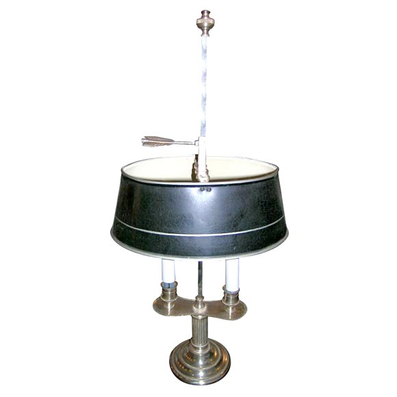 Single Bouillet Silverplated Double Arm Table Lamp