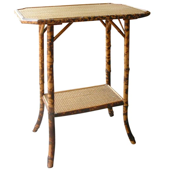 Bamboo and wicker side table at 1stdibs for Bamboo side table