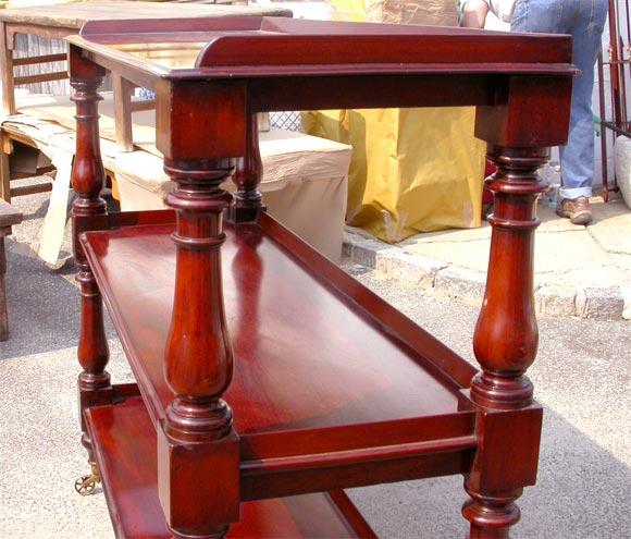 Victorian mahogany tiered dumbwaiter at stdibs