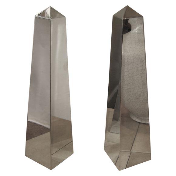 Two chromed inox obelisks from maison et jardin at 1stdibs - Maison jardin furniture nancy ...