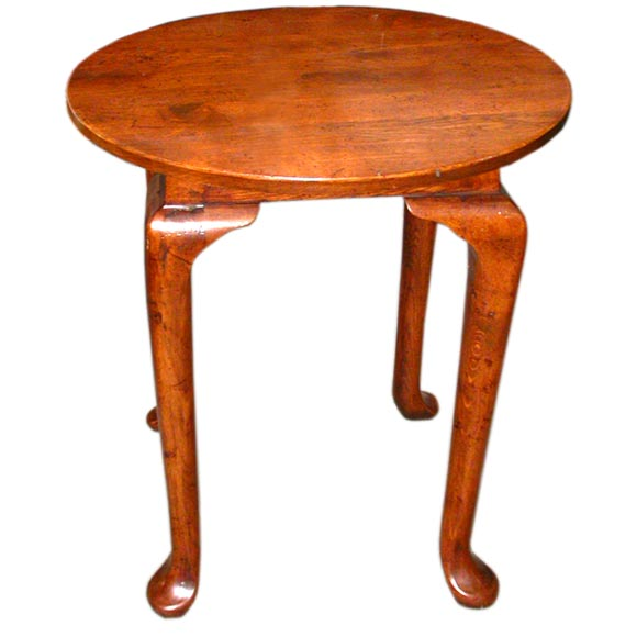 Round Pad Foot Oak Side Table For Sale At 1stdibs
